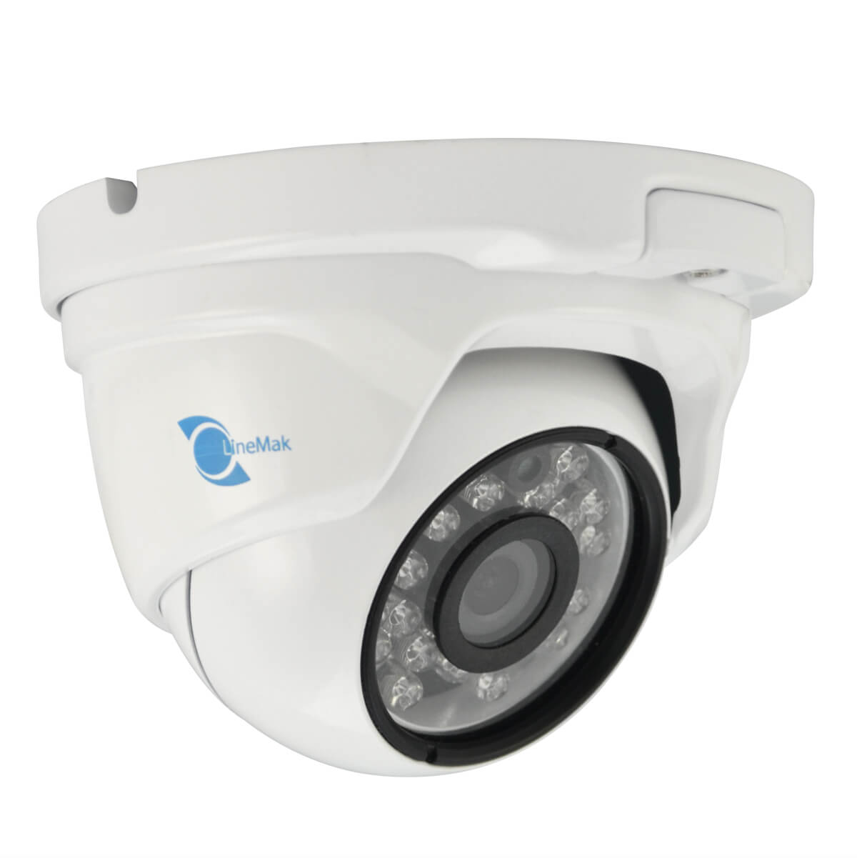 Dome camera, 1/2.8 HDIS CMOS Sensor, 1200TVL, 3.6mm lens, 24 LED, 65ft