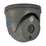 ir dome camera, hdis cmos sensor, 700tvl, 6mm lens, 1 led array, ip66